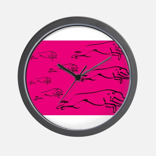 Running Wild in Pink Wall Clock