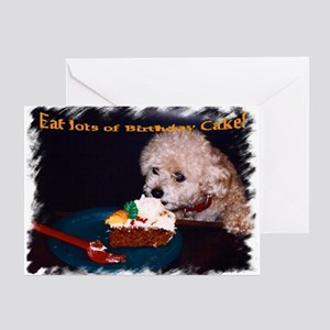 Toy poodle birthday greeting cards cafepress birthday greeting card bookmarktalkfo Gallery