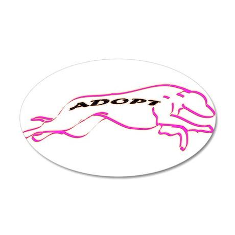 Adopt Pink 38.5 x 24.5 Oval Wall Peel
