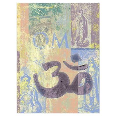 Om Abstract Framed Print