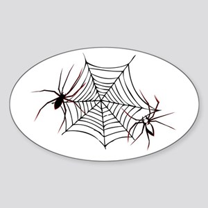 spider web Sticker (Oval)