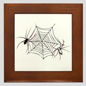 spider web Framed Tile