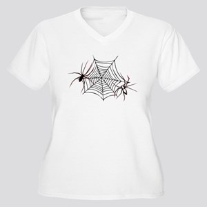 spider web Women's Plus Size V-Neck T-Shirt