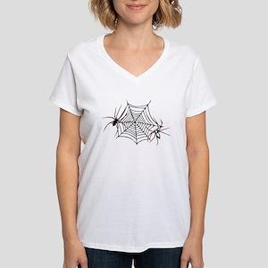 spider web Women's V-Neck T-Shirt