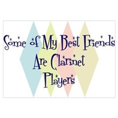 Clarinet Players Friends Canvas Art