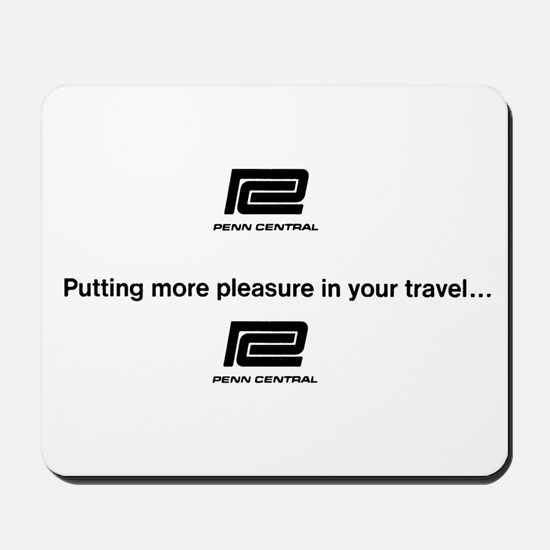 Pennn Central RR Travel Logo Mousepad