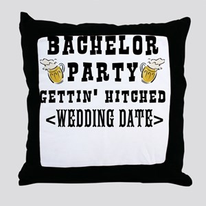 Bachelor Party (Wedding Date) Throw Pillow