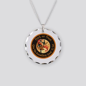 Trick or Treat Necklace Circle Charm