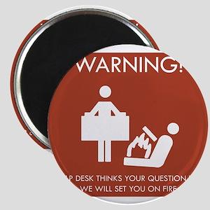 Warning Help Desk Magnet
