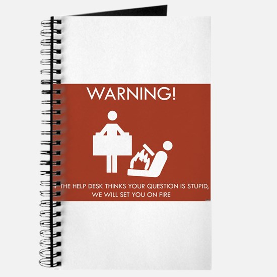 Warning Help Desk Journal