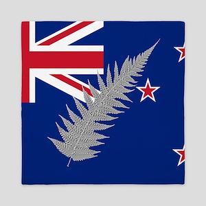 New Zealand Silver Fern Flag Queen Duvet