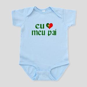 I love my Dad (Portuguese) Infant Bodysuit