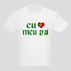 I love my Dad (Portuguese) Kids Light T-Shirt