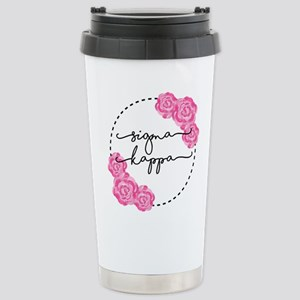 Sigma Kappa Flora 16 oz Stainless Steel Travel Mug
