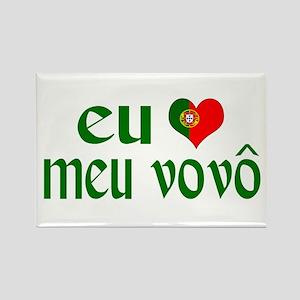 I love my Grandpa (Portuguese) Rectangle Magnet