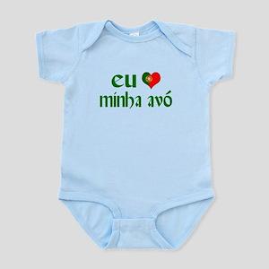 I love my Grandma (Portuguese) Infant Bodysuit