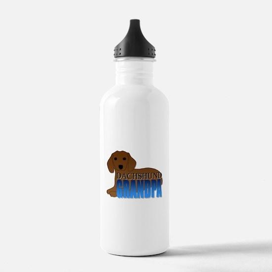 Dachshund Grandpa Water Bottle