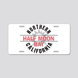Half Moon Bay California Aluminum License Plate