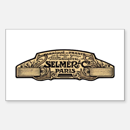 Selmer Rectangle Decal