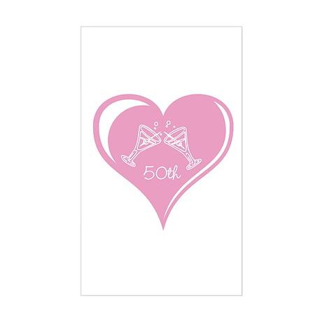 50th Wedding Anniversary Sticker (Rectangle)