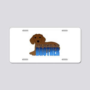 Dachshund Brother Aluminum License Plate