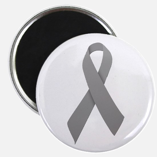"Gray Ribbon 2.25"" Magnet (100 pack)"