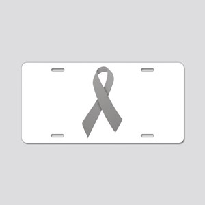 Gray Ribbon Aluminum License Plate