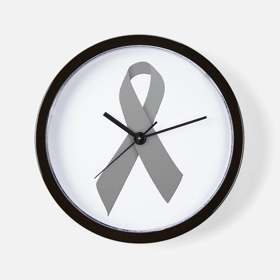 Gray Ribbon Wall Clock