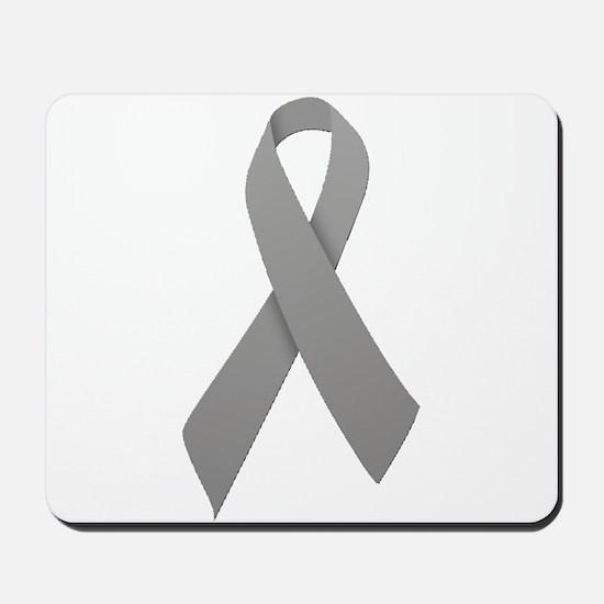 Gray Ribbon Mousepad