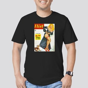 Flirt Pin Up Beauty Girl with Dog Men's Fitted T-S