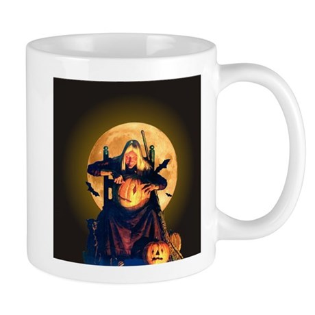 An Old Witch at Halloween Mug