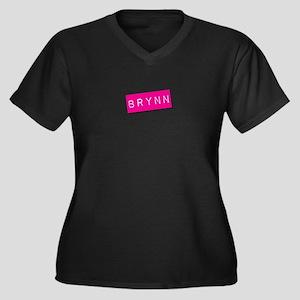 Brynn Punchtape Women's Plus Size V-Neck Dark T-Sh