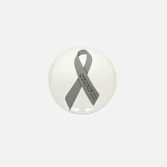 Gray Ribbon 'Survivor' Mini Button