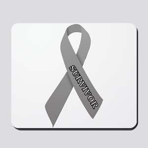 Gray Ribbon 'Survivor' Mousepad