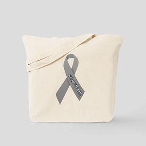 Gray Ribbon 'Survivor' Tote Bag