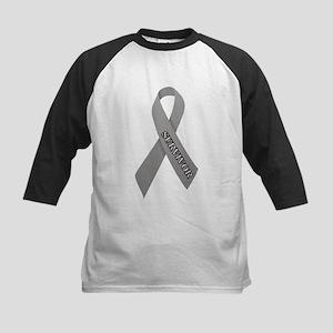 Gray Ribbon 'Survivor' Kids Baseball Jersey