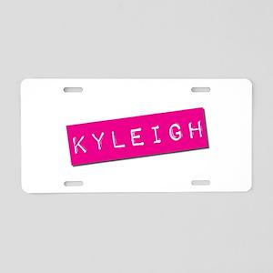 Kyleigh Punchtape Aluminum License Plate