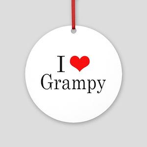 I Love Grampy Ornament (Round)