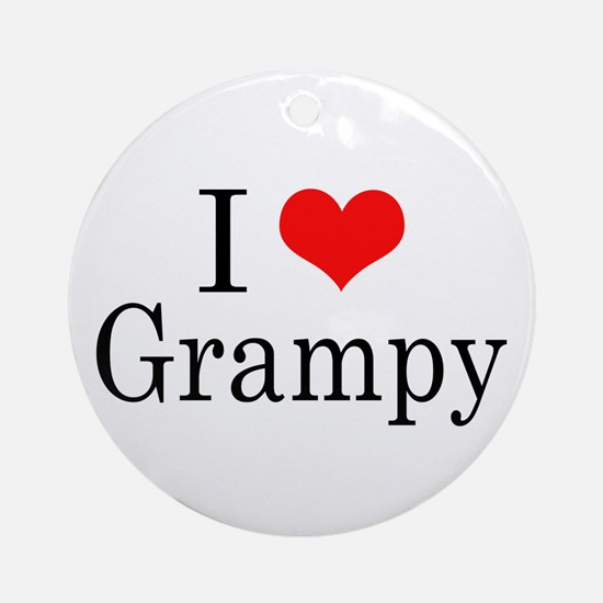 I Love Grampy Ornament (Round)