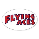Flying Aces Club Sticker (Oval)