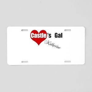 Personalizable Castle's Gal Aluminum License Plate