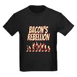 Bacon's Rebellion Kids Dark T-Shirt