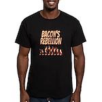 Bacon's Rebellion Men's Fitted T-Shirt (dark)