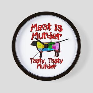 Meat is Murder. Tasty, Tasty Murder. Wall Clock