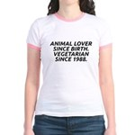 Vegetarian since 1988 Jr. Ringer T-Shirt