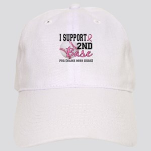 Second 2nd Base Breast Cancer Cap