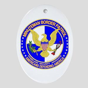mx Minuteman Border Patrol Oval Ornament