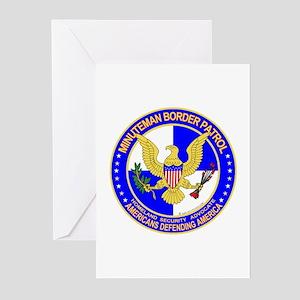 mx Minuteman Border Patrol Greeting Cards (Package