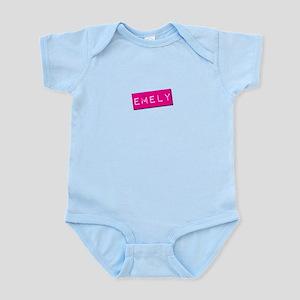 Emely Punchtape Infant Bodysuit