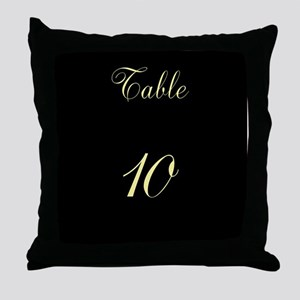 Table Number Throw Pillow